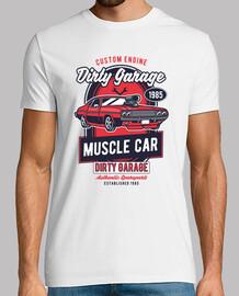 Camiseta Muscle Car Retro Garage 1985