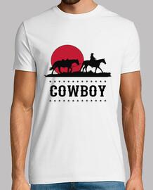 Camiseta Música Country Cowboy Puesta de Sol