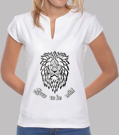 camiseta nacida para ser salvaje mujer salvaje