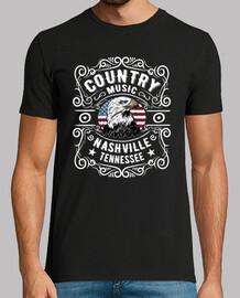Camiseta Nashville Country Music Eagle USA
