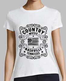 Camiseta Nashville Tennessee Country Girl Music