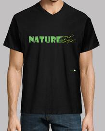 Camiseta Nature viento hojas