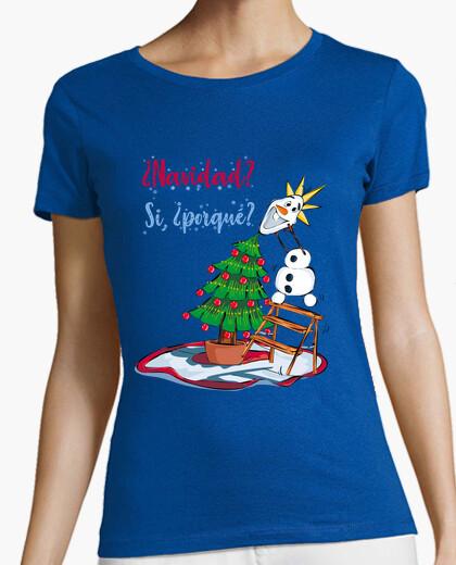 Camiseta Navidad con muñeco de nieve