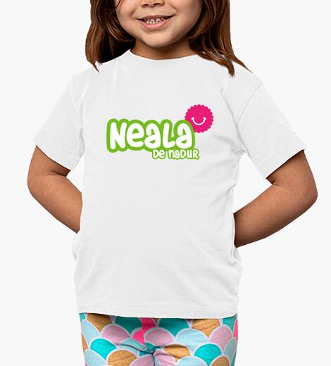 Ropa infantil Camiseta Neala de Nadur Niño, manga corta, blanco