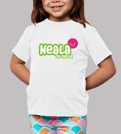 Camiseta Neala de Nadur Niño, manga corta, blanco