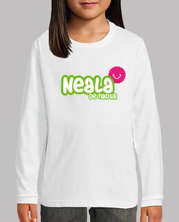 Camiseta Neala de Nadur Niño, manga larga, blanco