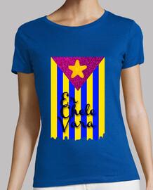 Camiseta Negra Bandera Chelevariana Mujer