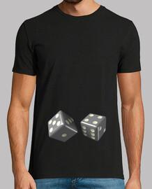 Camiseta negra dados grises
