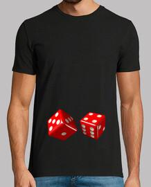 Camiseta negra dados rojos