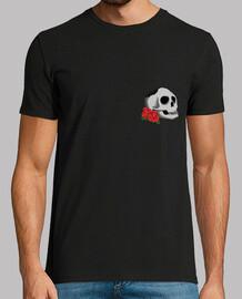 "Camiseta negra hombre ""Skull and Roses"""