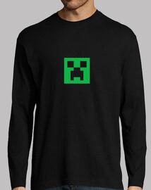 Camiseta negra Minecraft creeper.