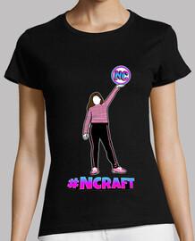 Camiseta negra mujer  #NCRAFT 2