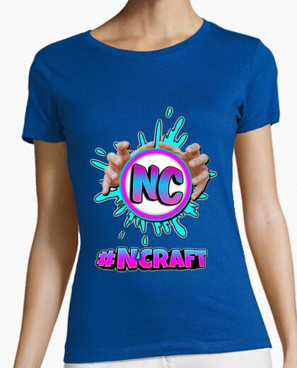 Camiseta negra mujer #NCRAFT