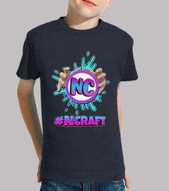 Camiseta negra niño/a #NCRAFT