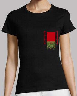 Camiseta negra para mujer con espectacular bolsillo