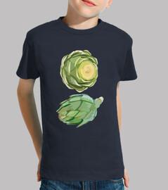 Camiseta Negra para niños Dúo de alcachofas