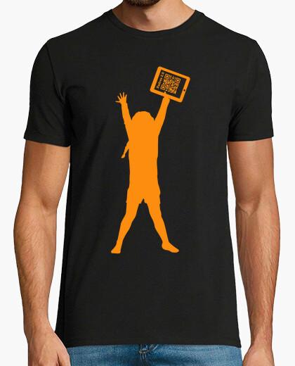 Camiseta negra solidaria hombre - La niña de la tablet - Padres 2.0