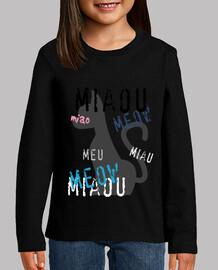 Camiseta NENES azul pastel - Diseño MIAOU