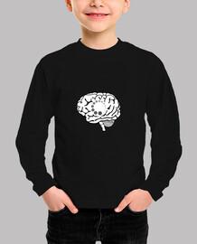camiseta nerd buffering cerebral para niños