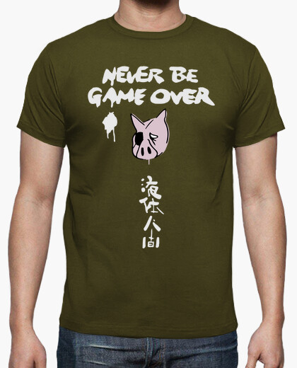 Camiseta Never be game over