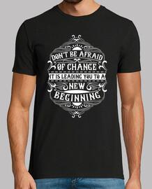 Camiseta New Beginning Vintage Mensaje Motivacional