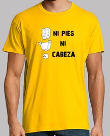 camiseta, ni pies ni cabeza, amarillo chico