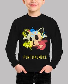 Camiseta niñ@ Frenchie Skull