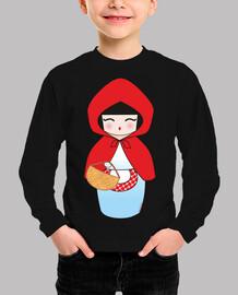 Camiseta niñ@ Kokeshi Caperucita Roja
