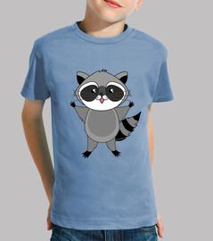 Camiseta niñ@ Mapache kawaii