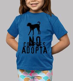 Camiseta niñ@ No compres adopta