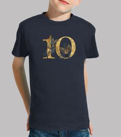 Camiseta niña 10 años dorado manga corta