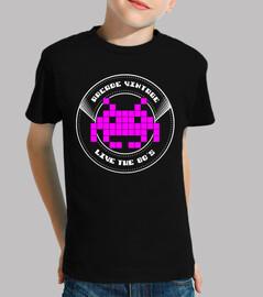 Camiseta Niña Arcade Vintage Logo Rosa