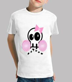 Camiseta niña calavera con piruletas