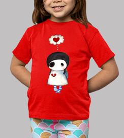 Camiseta niña Corazón roto