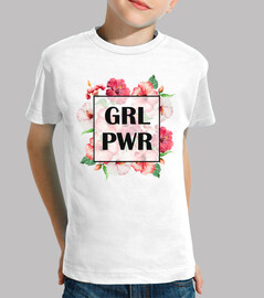 Camiseta Niña Girl Power Negro