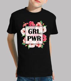 Camiseta Niña Girl Power Negro