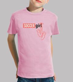 camiseta niña manga corta chicas fúbtol