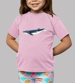 Camiseta niña niño Bebe  rorcual tropical