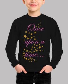 Camiseta niña Once upon a time...