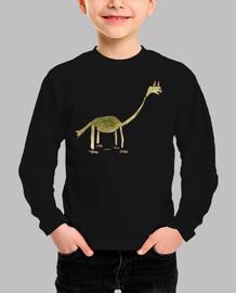 Camiseta niño-dinosaurio con zapatos