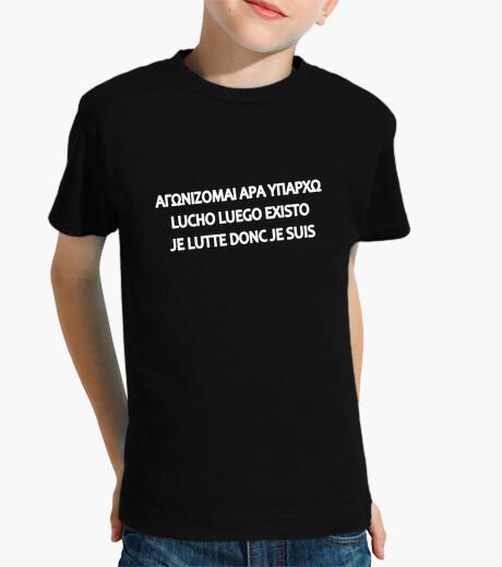 Ropa infantil camiseta niño - lucho por lo que soy