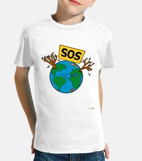 Camiseta niño - SOS Planeta Tierra