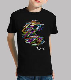 Camiseta Niño  Barcia Negra