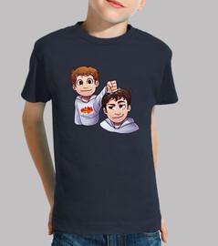 Camiseta Niño , manga corta, azul marino
