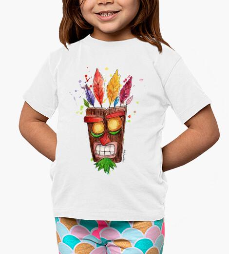 Ropa infantil camiseta niño Aku Aku mascara
