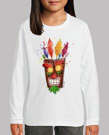 camiseta niño Aku Aku mascara