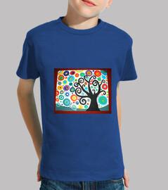 Camiseta niño Arbol de la vida3