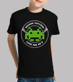 Camiseta Niño Arcade Vintage Logo Verde
