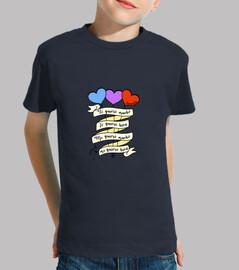 Camiseta niño color azul TE/MEQUIERO