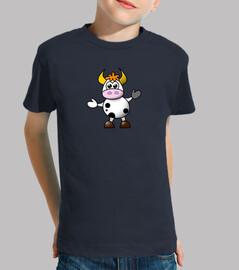 Camiseta niño con vaca